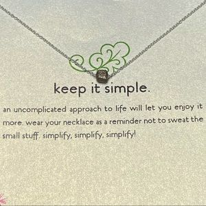 Dogeared Sterling Silver Keep it Simple Necklace